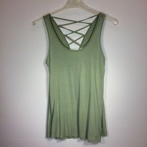 Hippie Rose Lace Up Tank